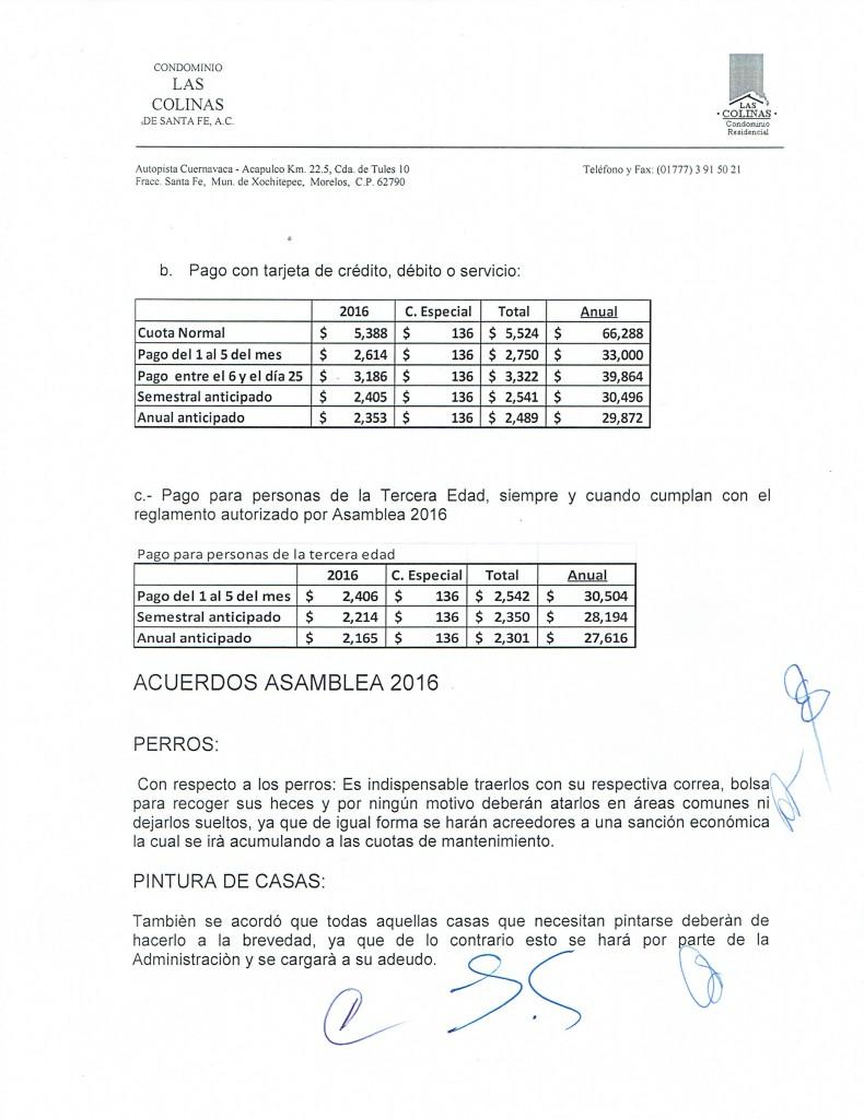 LA ADMINISTRACION INFORMA HOJA 220022016