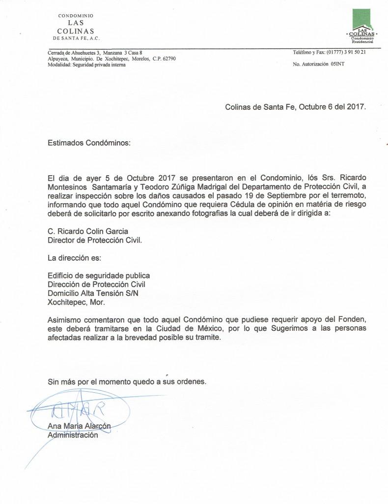 COMUNICADO 6-10-201706102017