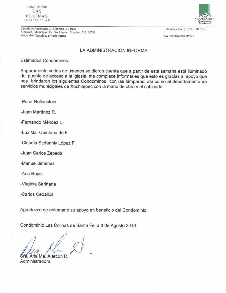 LA ADMON. INFORMA AGOSTO 2019_2019